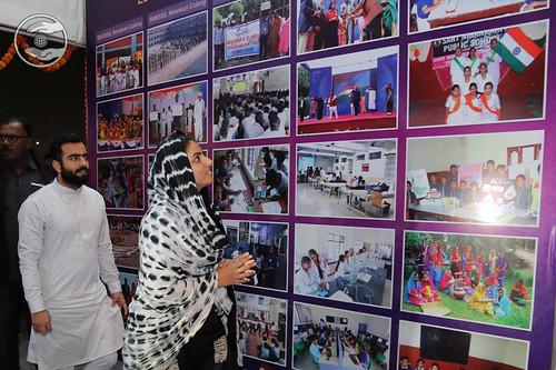 Satguru Mata Ji viewing glimpses of school activities