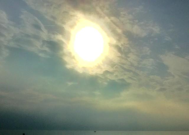 Soleil d'hiver au lac
