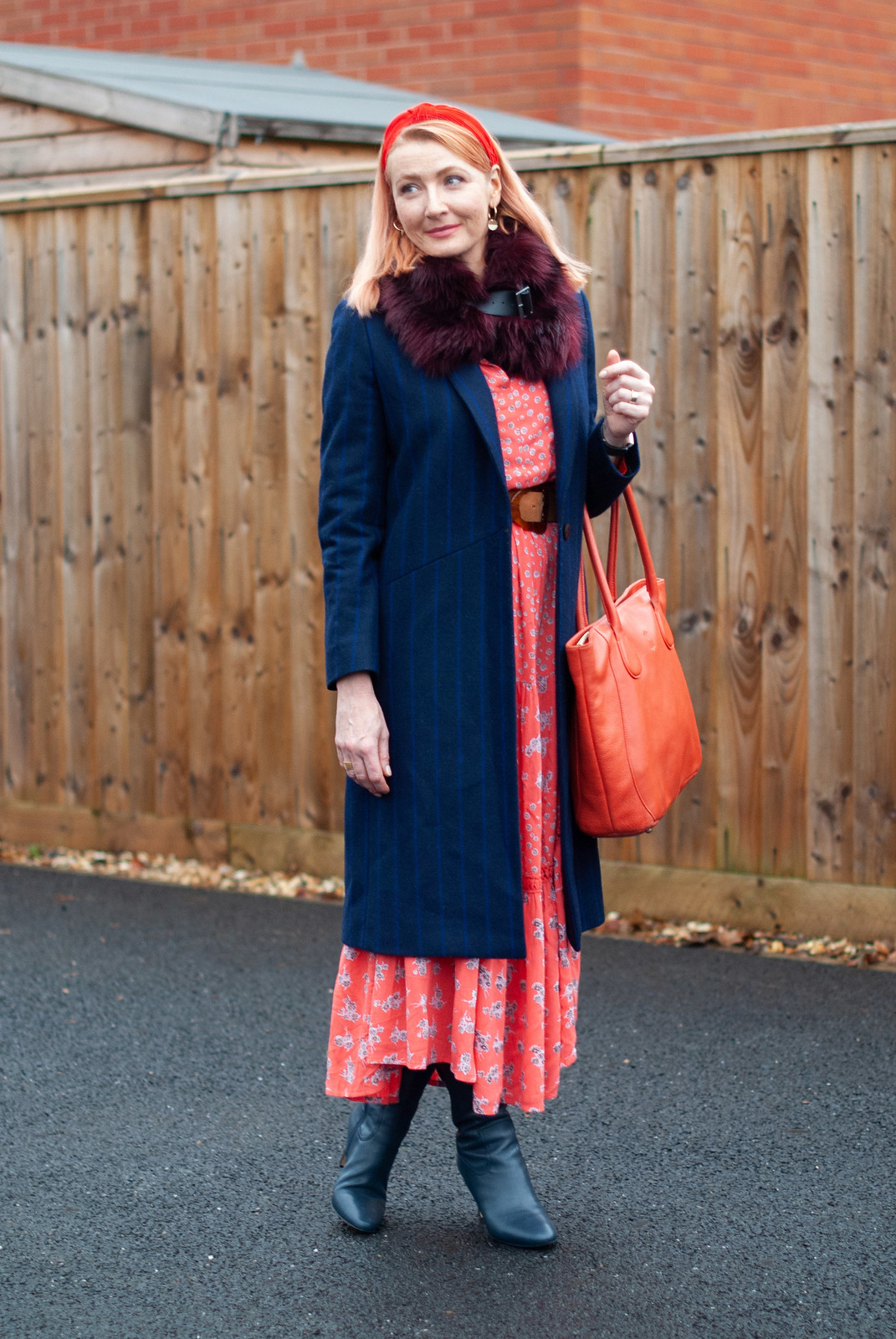 Styling a Boho Dress for Autumn With Layering and Faux Fur | Not Dressed As Lamb, Over 40 Style