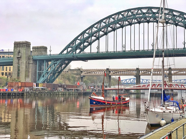 The Tynemouth Lifeboat under the Tyne Bridge