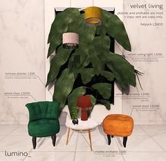 lumino_ velvet living (Now on marketplace)