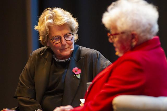 Sandi Toksvig and Ruth Wishart