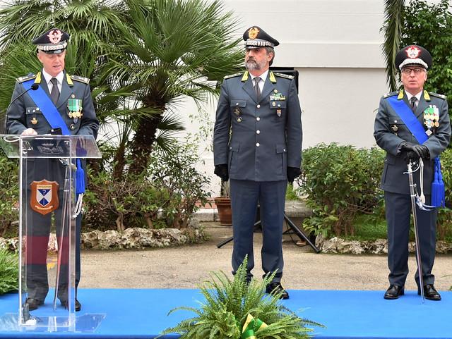 cerimonia avvicendamento Gen.B. Refolo - Gen.D. Mattana