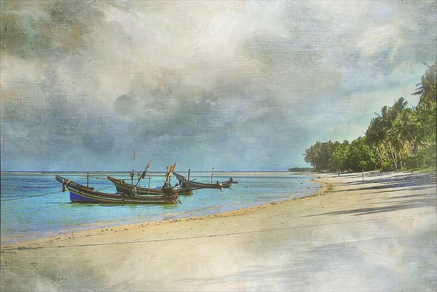 Boats On Seashore