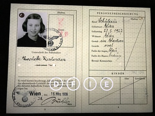 Charlotte's German Passport. From History Comes Alive at Zurich's National Museum and Haus Hiltl