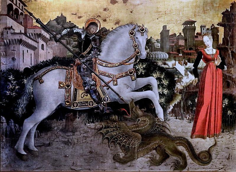 IMG_5365A X Brescia vers 1460-1465 Saint George and the Dragon Brescia Pinacoteca Tosio Martinengo