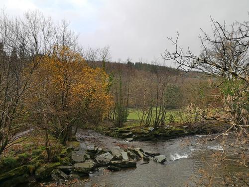 River seen from green bridge