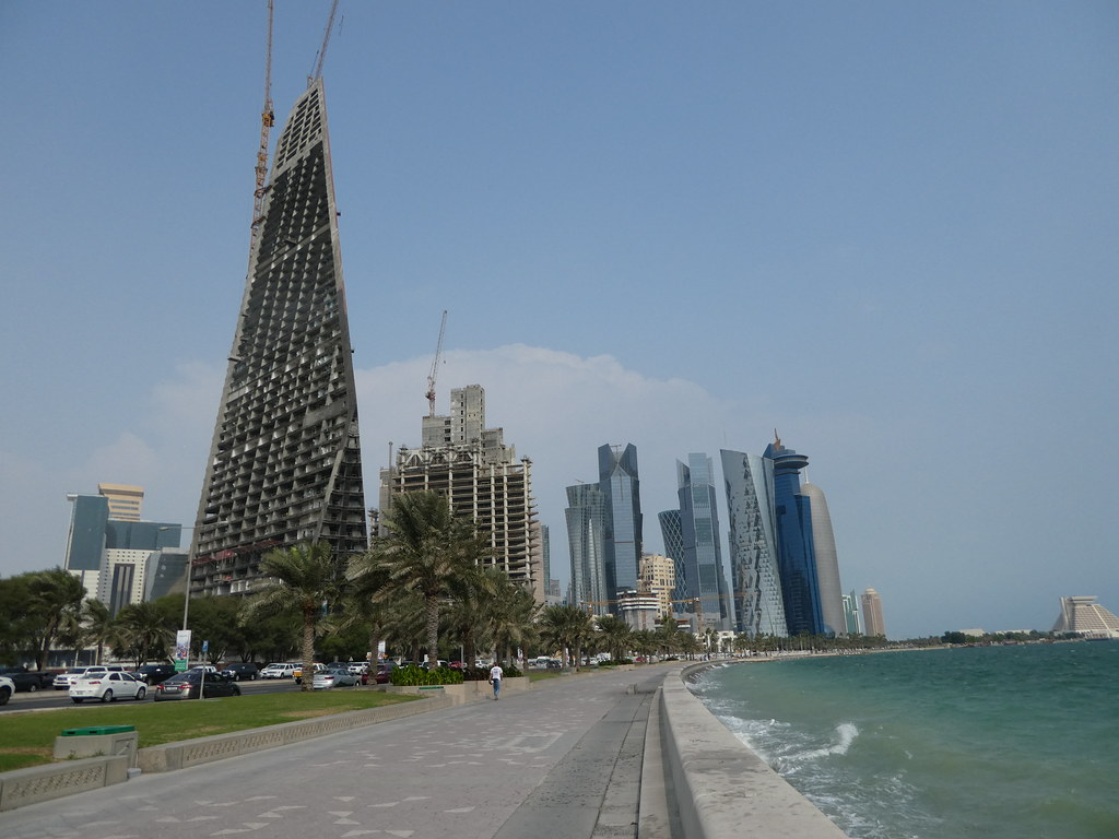 The West Bay Skyline, Corniche, Doha Qatar