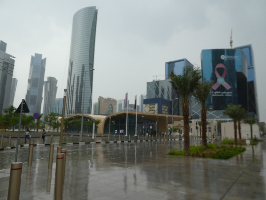 Heavy rain in Doha Qatar