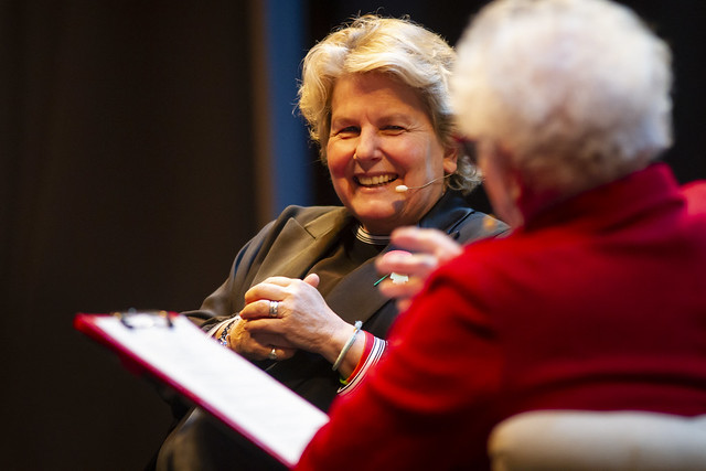 Sandi Toksvig and Ruth Wishart