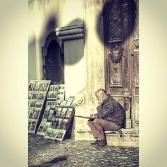 Street artist in Hungary.