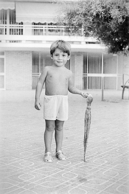 Kid with an octopus