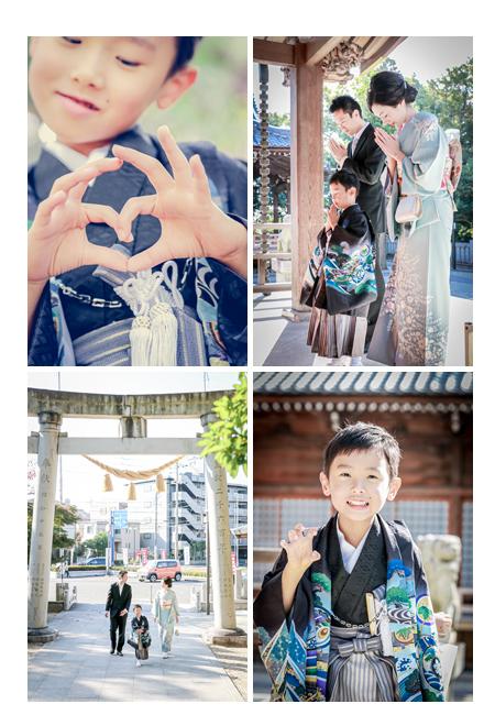 景行天皇社(愛知県長久手市)で七五三 お参り 家族の写真