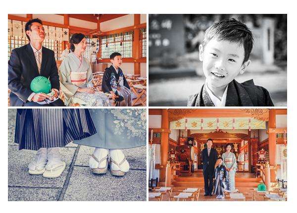 景行天皇社(愛知県長久手市)で七五三 ご祈祷場での記念撮影