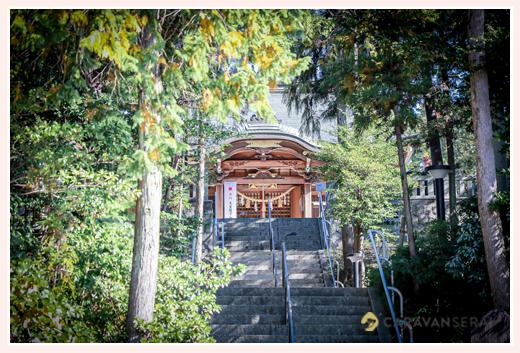 景行天皇社の長い階段 愛知県長久手市の神社