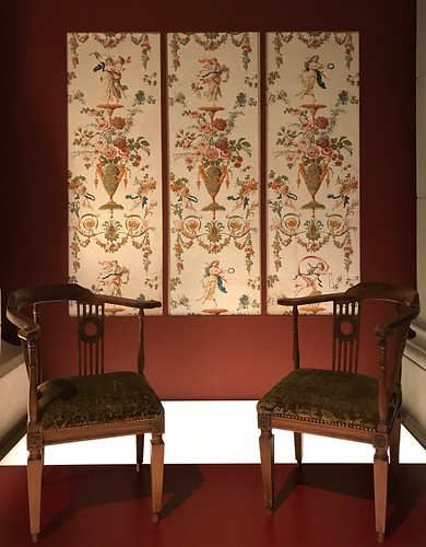 Pair of Salon Arm chairs. From History Comes Alive at Zurich's National Museum and Haus Hiltl