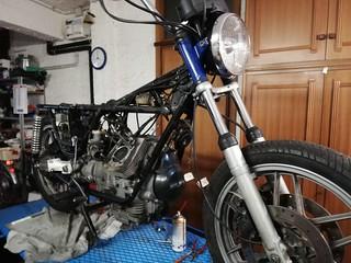 Testata destra smontata - Moto Guzzi V50