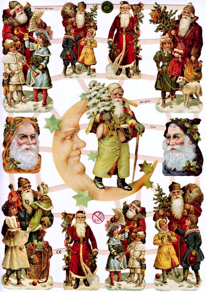 Viktoriánske obrázky - Santa Claus