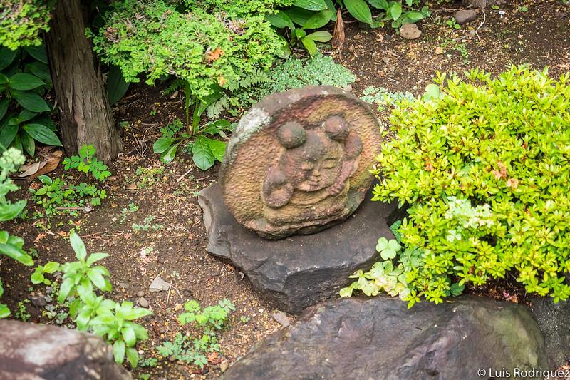 Detalles del jardín del templo Tokoji