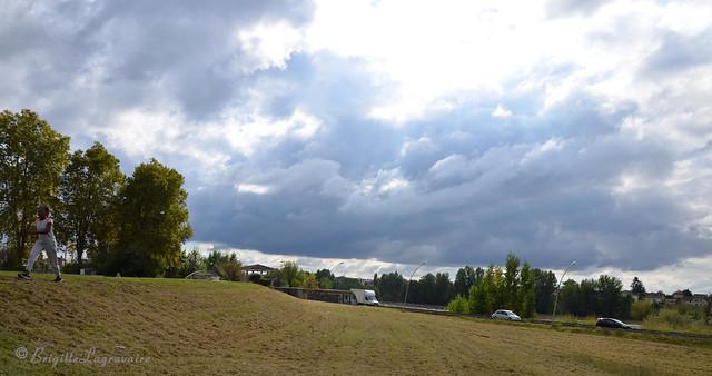 Ciel de tourmente au-dessus de Garonne