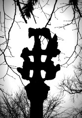 Kilnsea Cross Silhouette.