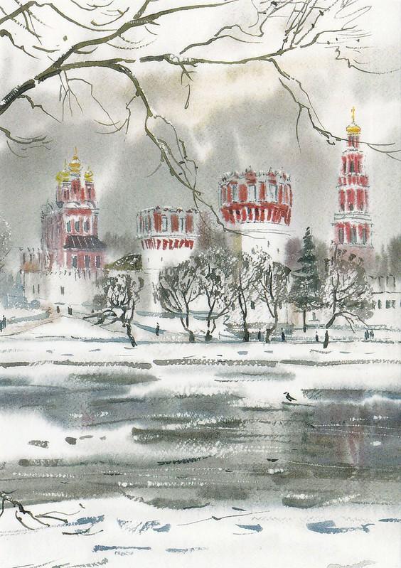 Москва в акварелях (10)