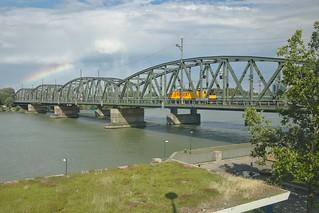 2018-07-14 AT Wien 20 Brigittenau & Wien 21 Floridsdorf, Donau, Nordbahnbrücke, Regiojet