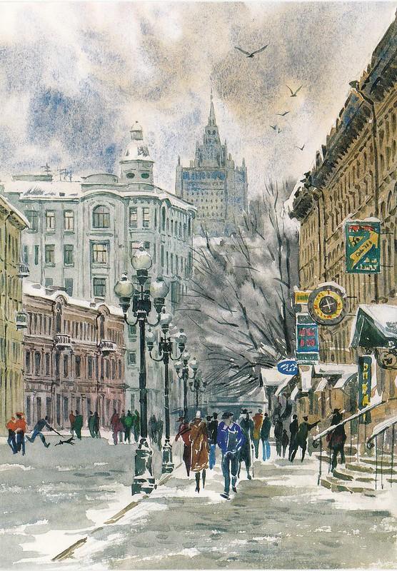 Москва в акварелях (9)