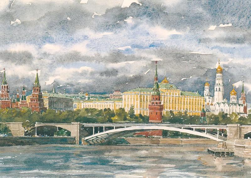 Москва в акварелях (2)