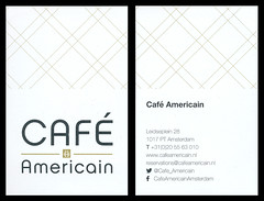 ephemera - Cafe Americain business card, Amsterdam