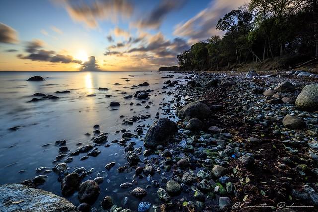 Sonnenaufgang am Strand von Katharinenhof