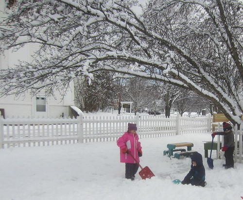 shoveling out