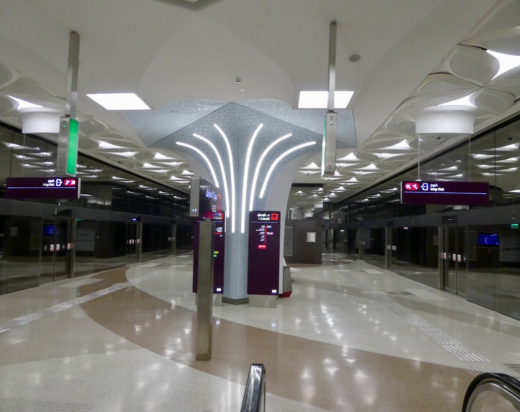 The DECC metro station, Doha, Qatar