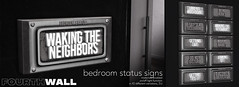 Fourth Wall / Bedroom Status Signs / Kinky Event