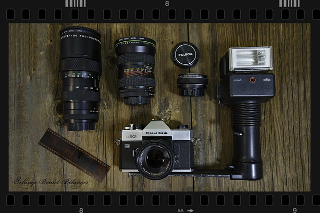 FUJICA ST801 plus Lenses and Flash