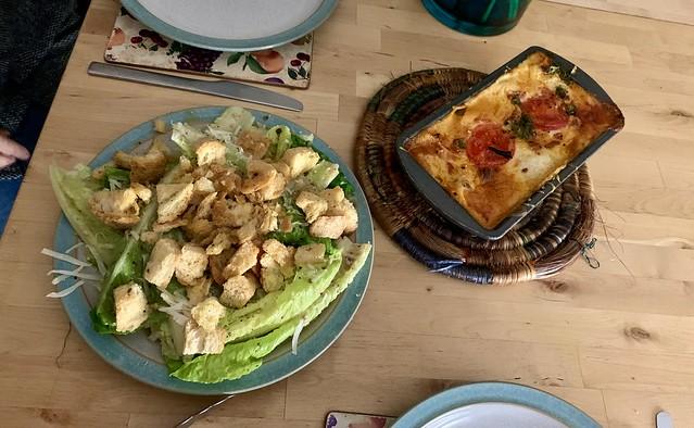 Birthday lasagne