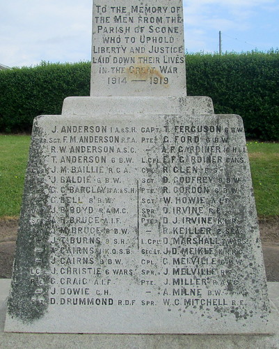 Great War Dedication Scone War Memorial