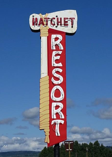 WY, Moran-U.S. 26 Hatchet Resort  Neon Sign