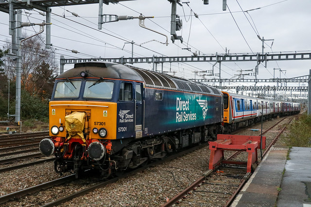 DRS 57301 + ex-Great Northern 313064 + 313134