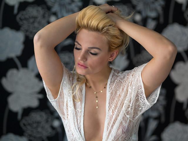 Natalia in white transparency