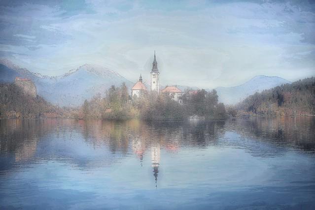 Lake Bled: impressionistic