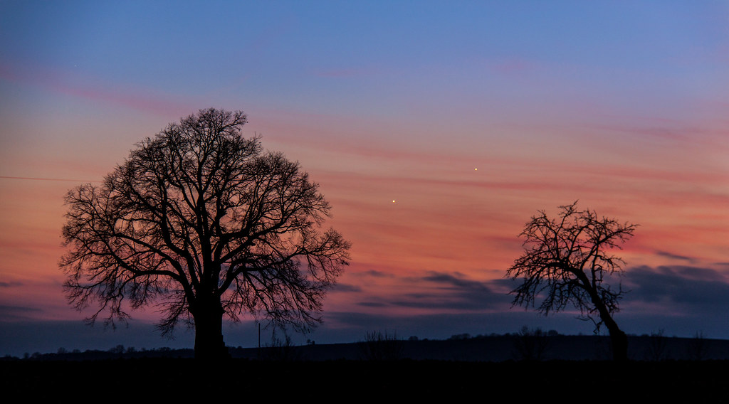 Venus and Jupiter conjunctions