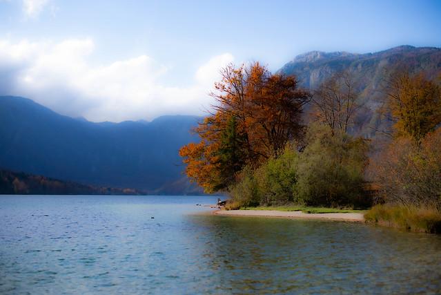 Lake Bohinj dressed in her autumn colours