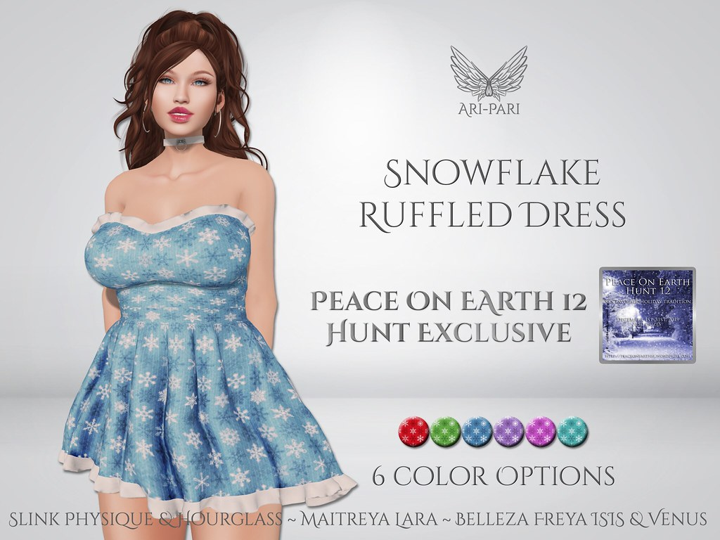 [Ari-Pari] Snowflake Ruffled Dress