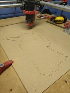 Yoda CNC cut out.