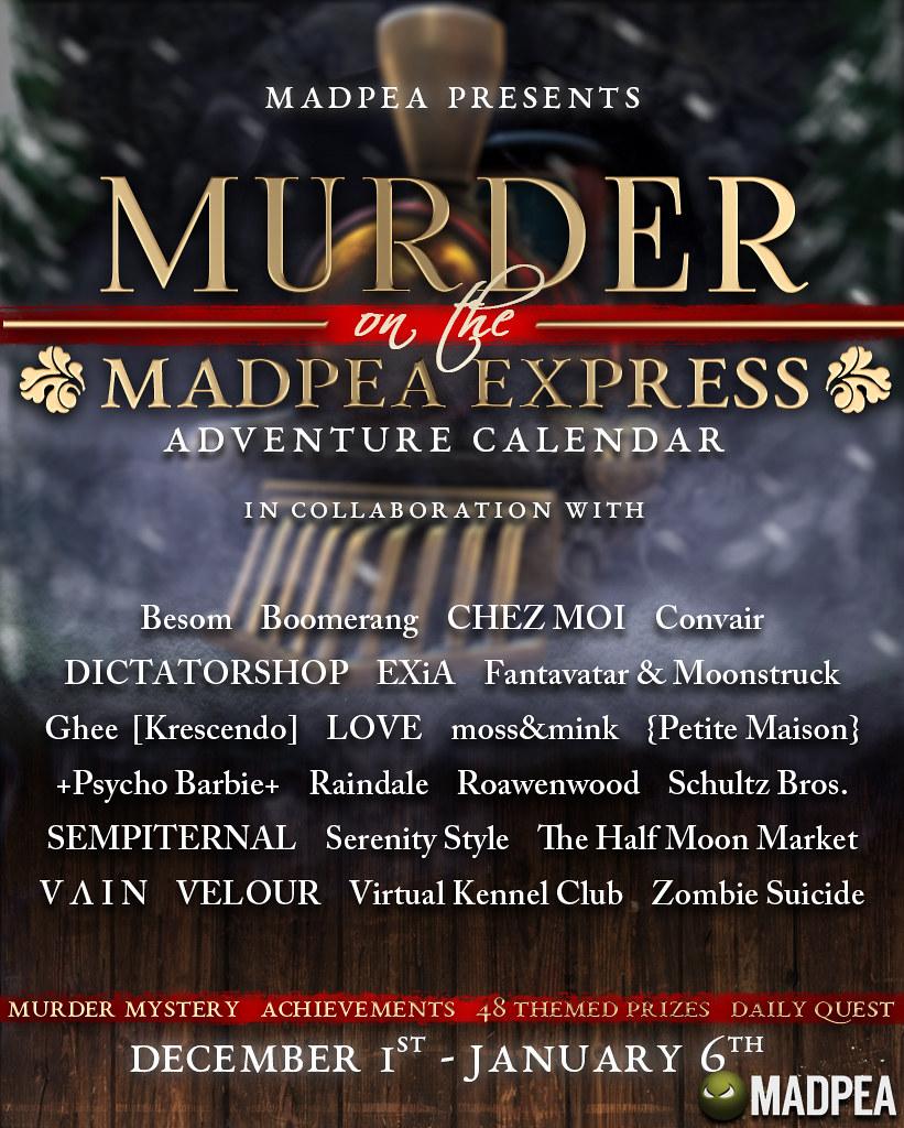 MadPea Adventure Calendar – Murder on the MadPea Express