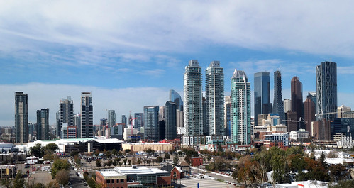 calgary cityscape skyline lumix wide view canada alberta