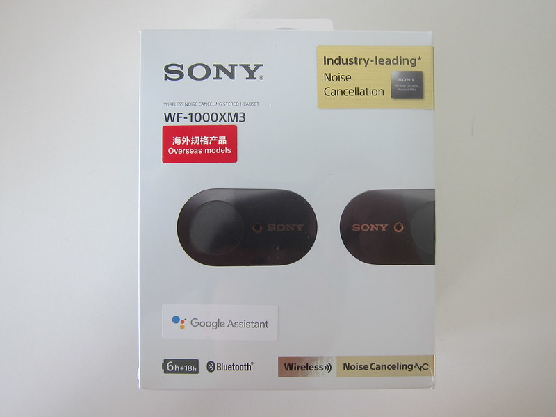 Sony WF-1000XM3 Earbuds - Box Packaging