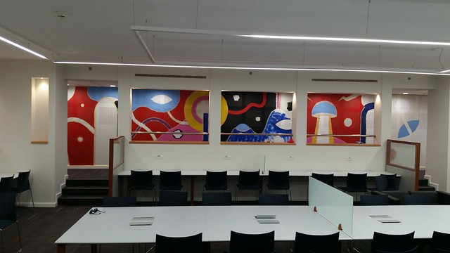 Maria Zaikina, Tesla hall mural in Technion (Israel Institute of Technology), work in progress