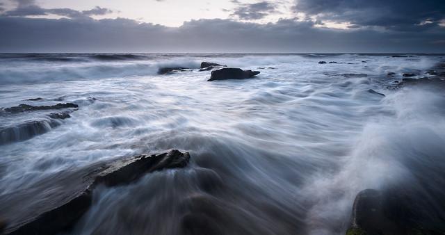 The sea rushing in